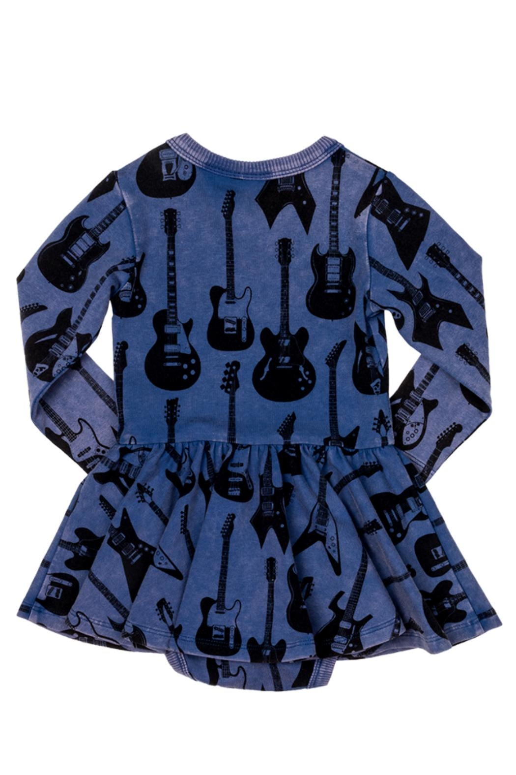 Rock Your Baby Guitar Baby Dress - Front Full Image