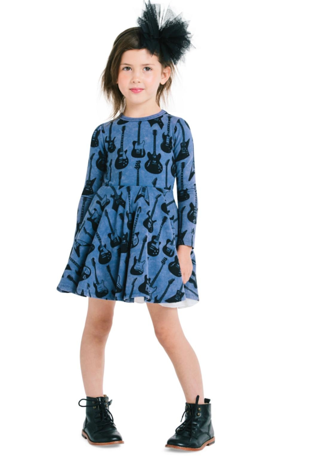 Rock Your Baby Guitar Hero Dress - Back Cropped Image