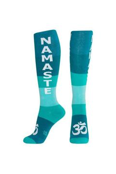 Gumball Poodle Teal Namaste Socks - Alternate List Image
