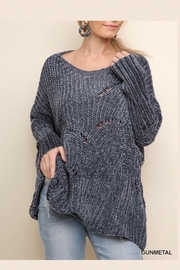 Umgee USA Gunmetal Soft Sweater - Product Mini Image