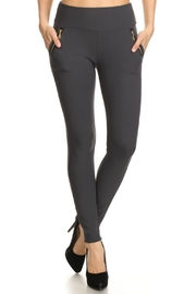 Minx Gunmetal Zip Leggings - Product Mini Image
