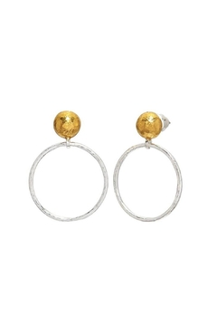Shoptiques Product: Hoopla Sterling/24k Earring