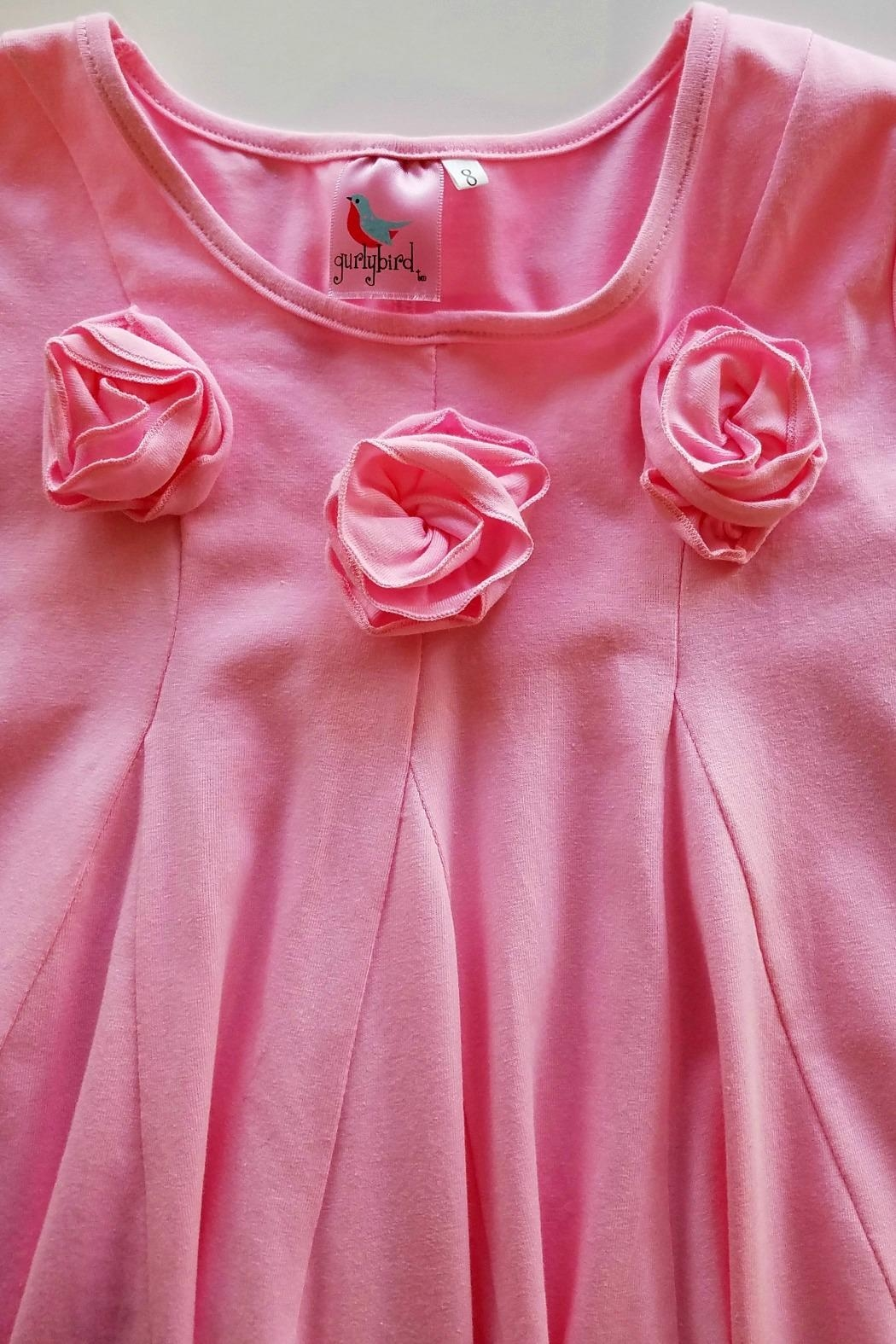 Gurly Bird Light-Pink-Rosette-Neckline-Swing-Tunic - Side Cropped Image