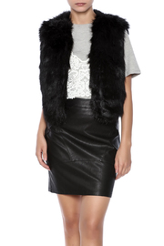 GWBG Black Faux Fur Vest - Product Mini Image