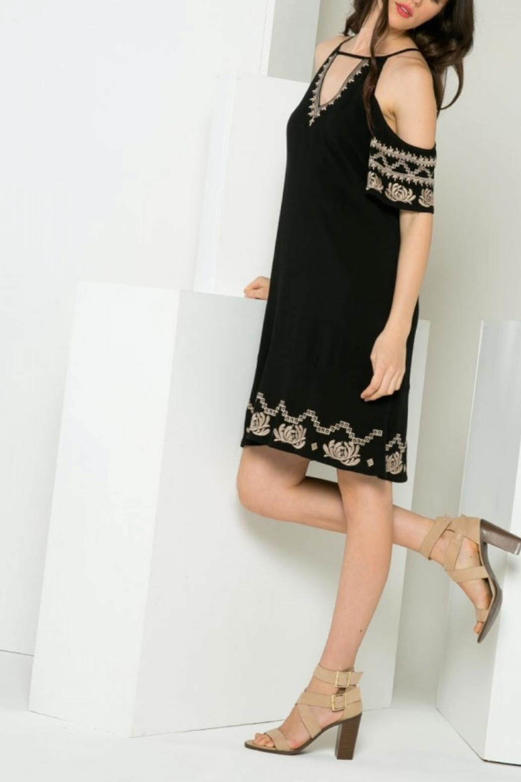 THML Clothing Gwen Embroidered Dress - Side Cropped Image