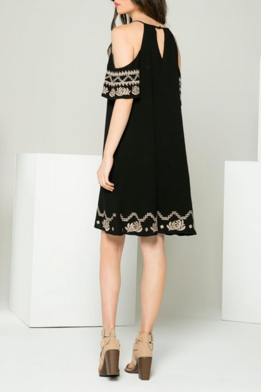 THML Clothing Gwen Embroidered Dress - Back Cropped Image