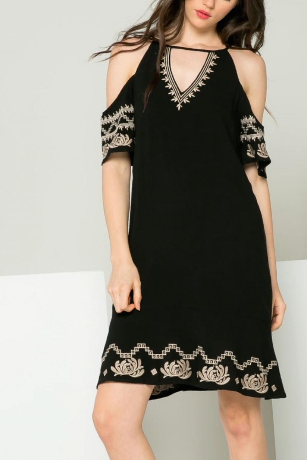 THML Clothing Gwen Embroidered Dress - Front Full Image