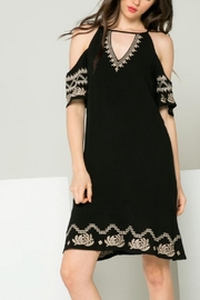 THML Clothing Gwen Embroidered Dress - Front full body