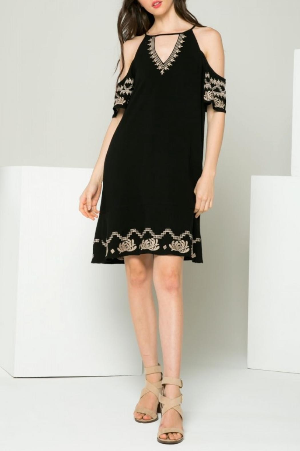 THML Clothing Gwen Embroidered Dress - Main Image