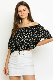 Olivaceous Gwen Floral Off Shoulder Top - Product Mini Image