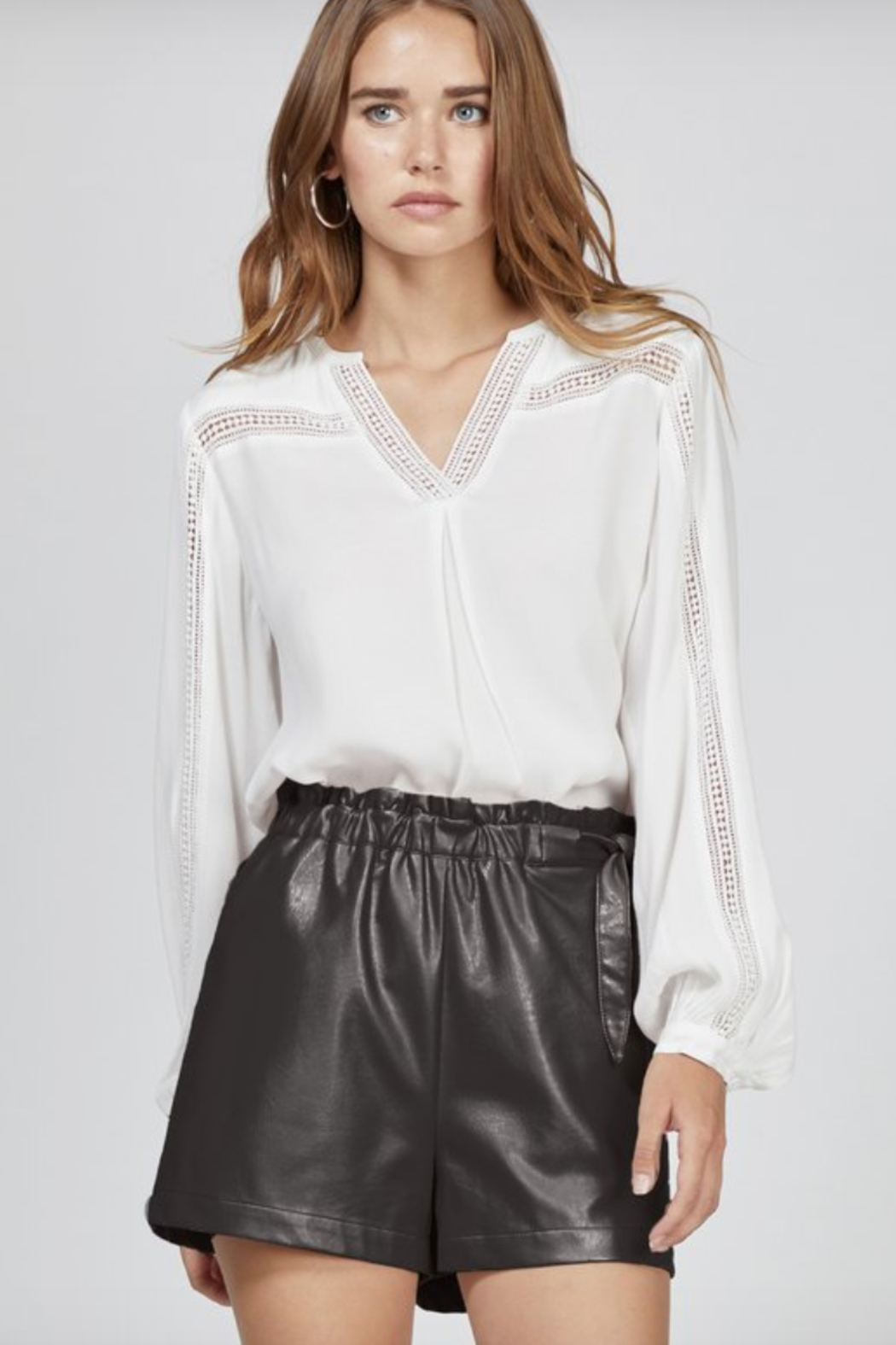 Greylin Gwen Vegan Leather Shorts - Main Image