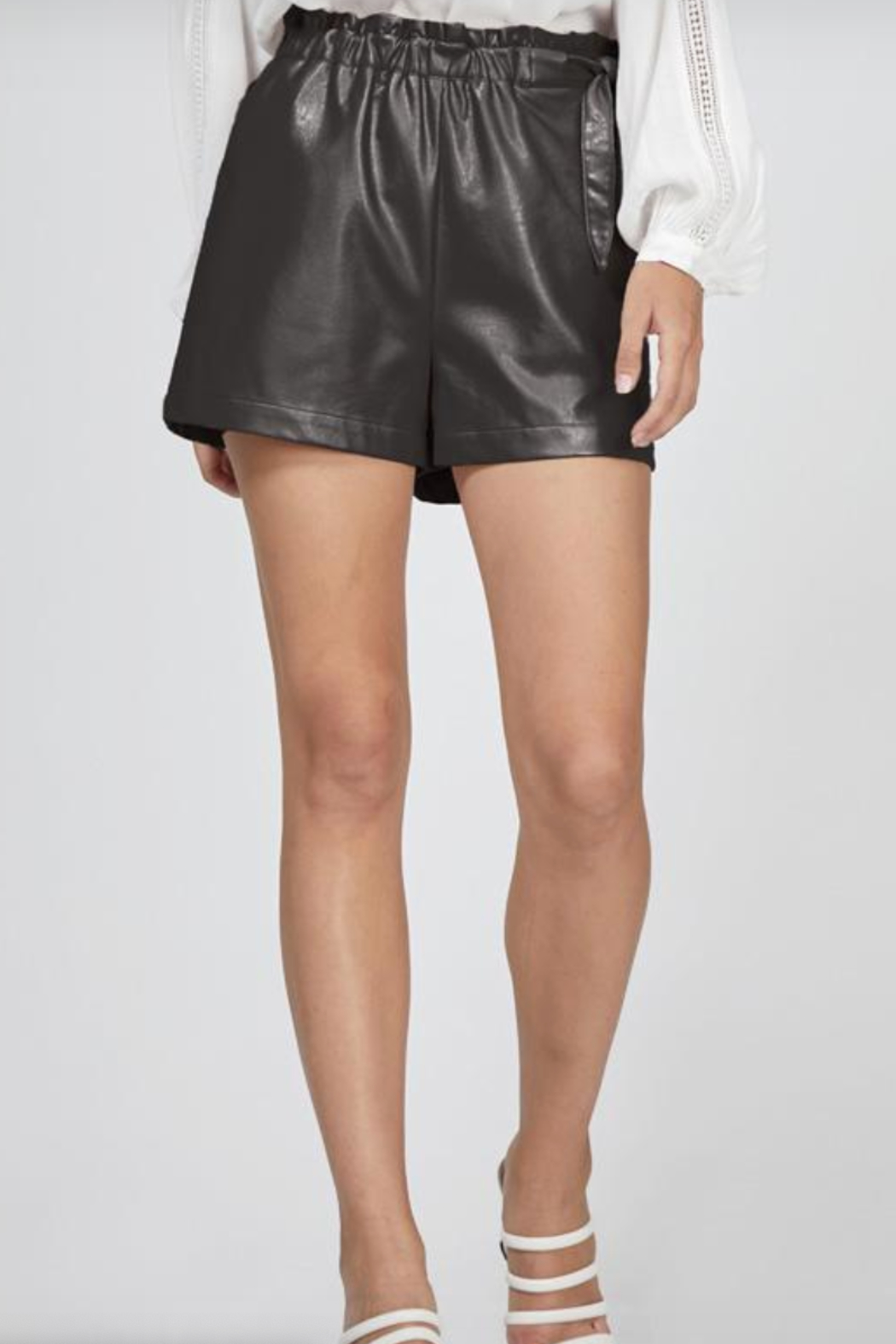 Greylin Gwen Vegan Leather Shorts - Front Full Image