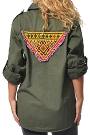 Gypsetters Blouse Military Embellished - Product Mini Image