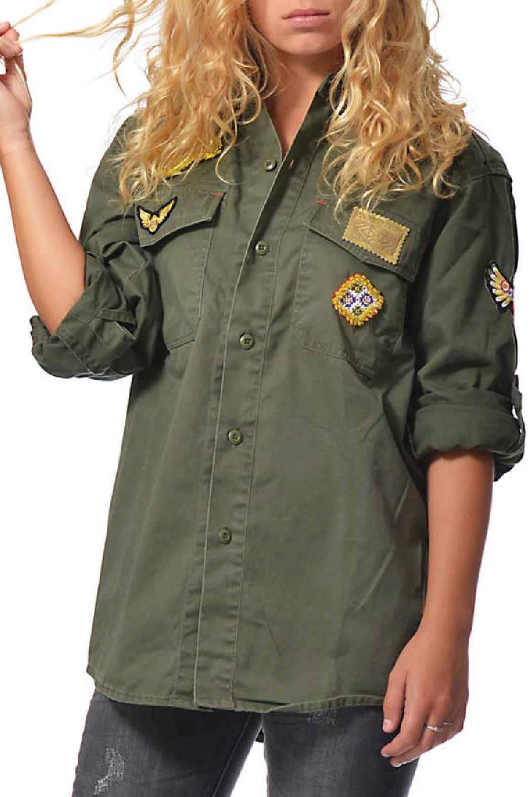 Gypsetters Blouse Military Embellished - Front Full Image