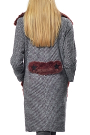 Gypsetters Furry Embellished Coat - Front full body