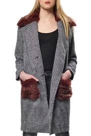 Gypsetters Furry Embellished Coat - Product Mini Image
