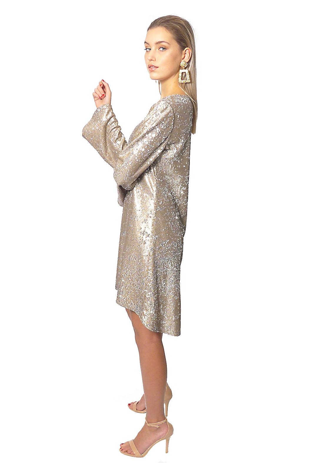 Gypsetters Dress A-Line Sequin - Side Cropped Image