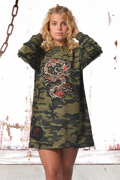 Shoptiques Product: Dress Camo Bella