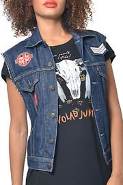 Gypsetters Embellished Jeans Vest - Product Mini Image