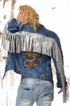 Shoptiques Product: Jacket Dragon Fringe