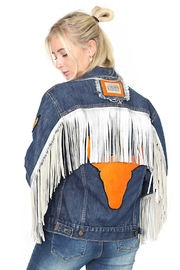 Gypsetters Jacket Fringe Embellished - Product Mini Image