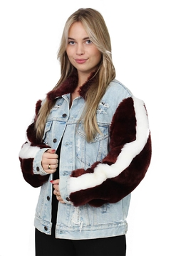Shoptiques Product: Jacket Fur Sleeves
