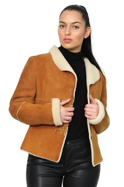 Gypsetters Jacket Lammy Reversible - Back cropped
