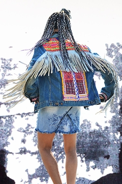 Shoptiques Product: Jacket Leather Fringe