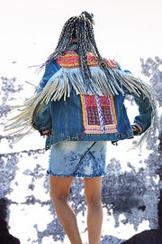 Gypsetters Jacket Leather Fringe - Product Mini Image