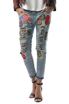 Gypsetters Embellished Jeans - Product List Image