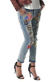 Gypsetters Embellished Jeans - Side cropped