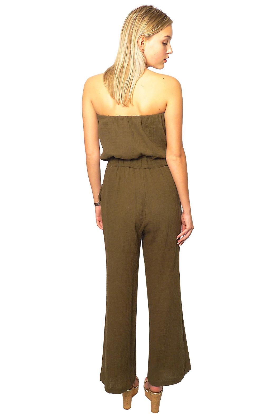 Gypsetters Jumpsuit Strapless - Side Cropped Image