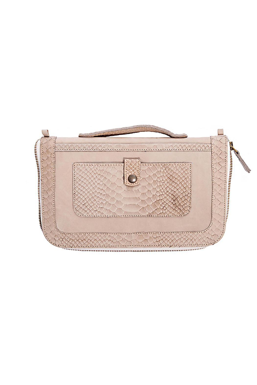 Gypsetters Money Clutch Snake-Print - Main Image