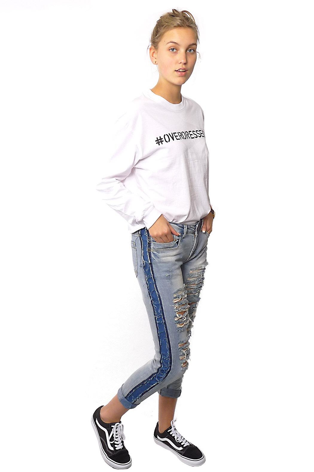 Gypsetters Pants Denim Stripe - Front Full Image