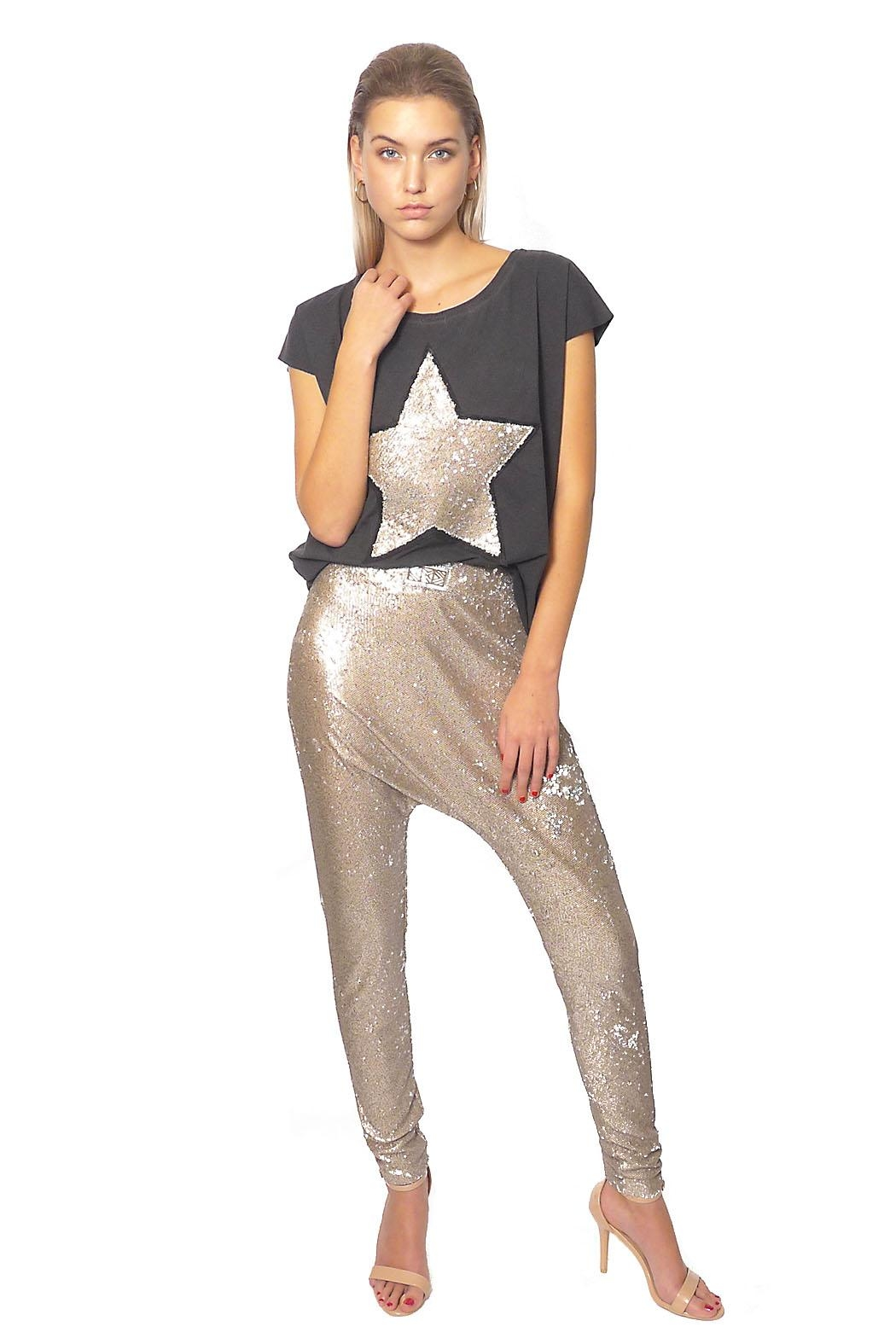 Gypsetters Pants Sequin Lowrider - Front Cropped Image