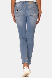 Gypsetters Pants Sparkle Denim - Front full body