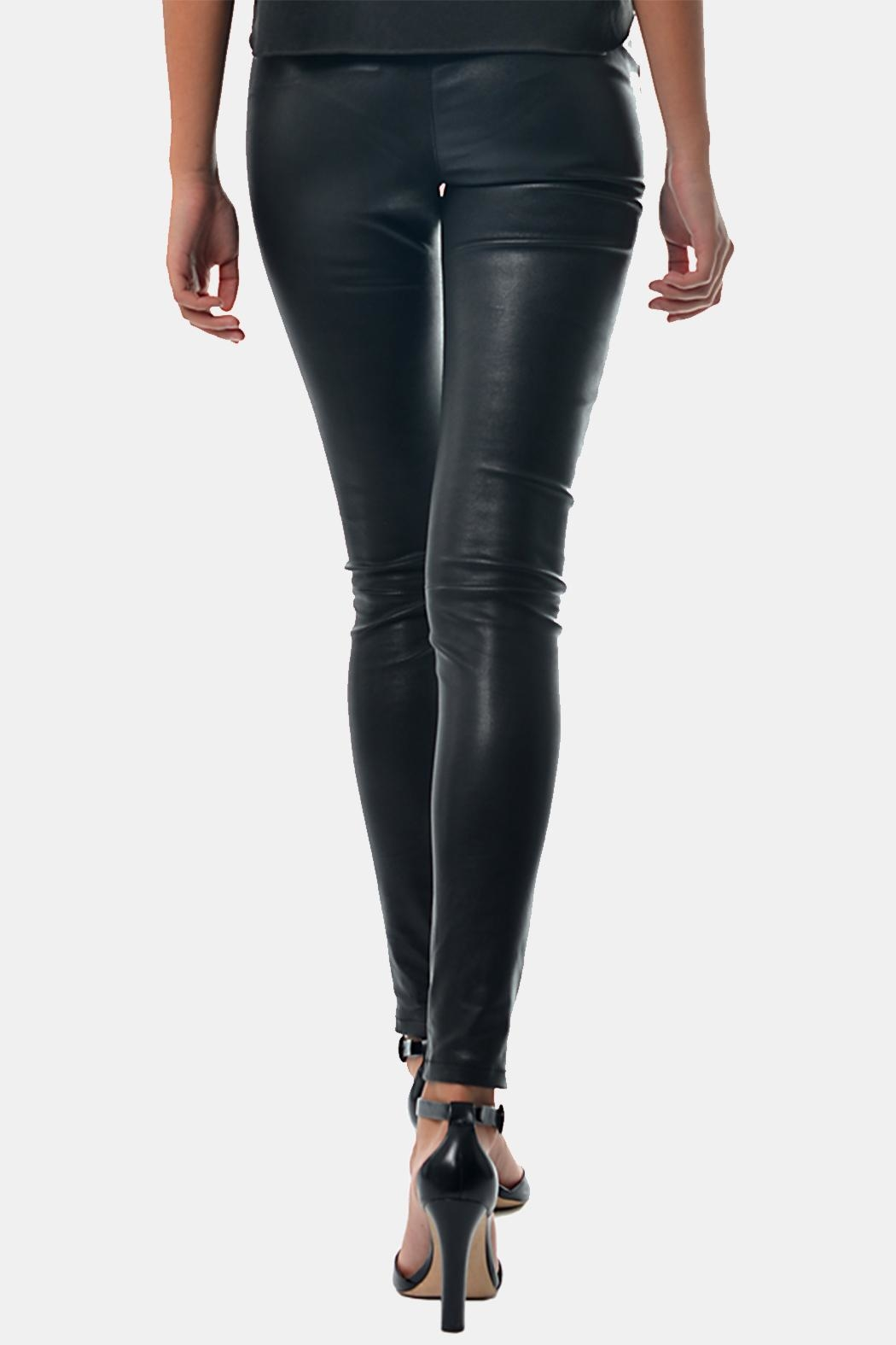 Gypsetters Pants Stretch Leather - Front Full Image