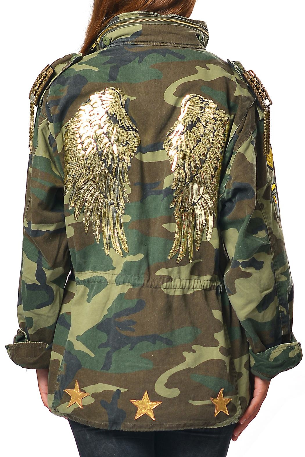 Gypsetters Parka Angel Wings Jacket - Front Cropped Image
