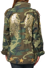 Gypsetters Parka Angel Wings Jacket - Front cropped