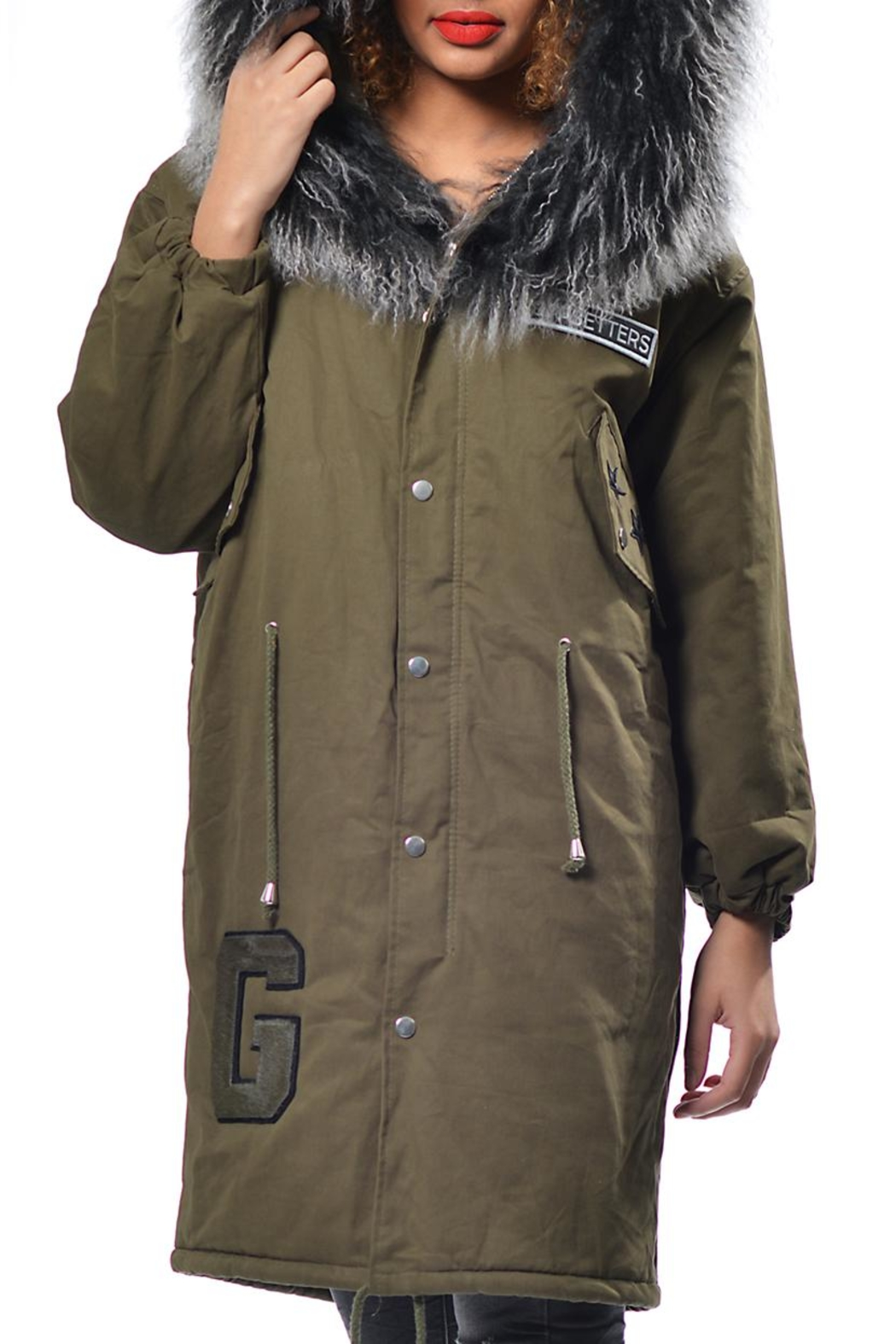 Gypsetters Parka Fur Collar - Side Cropped Image