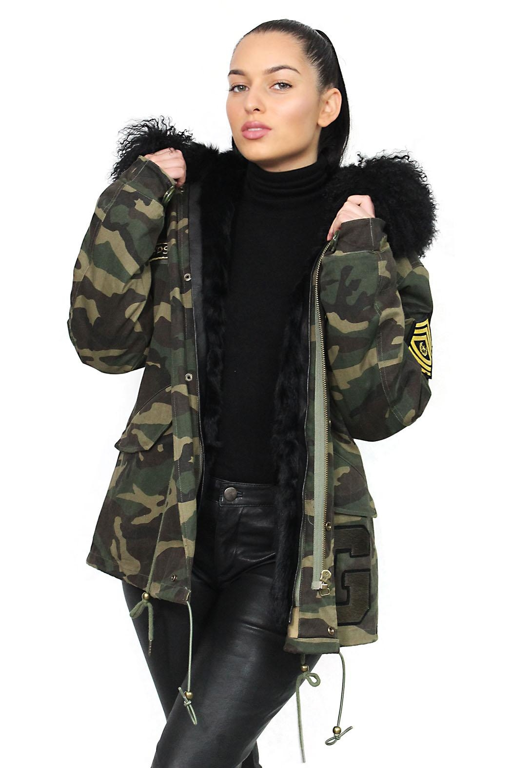 Gypsetters Parka Fur Lined - Front Cropped Image