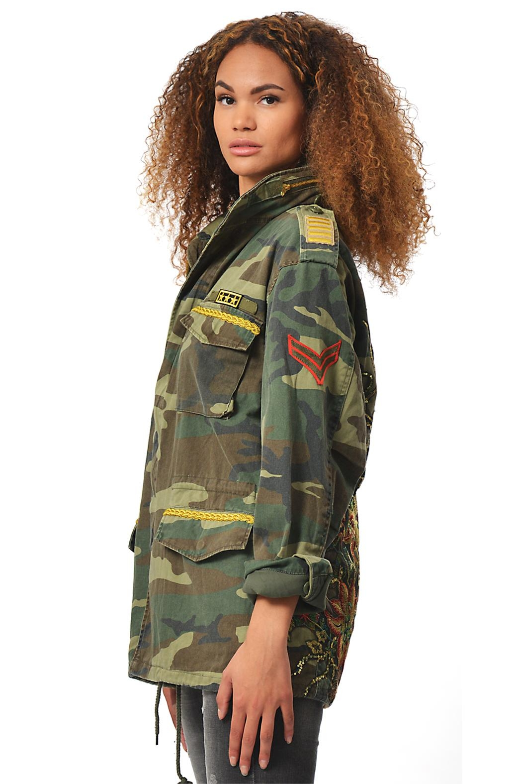 Gypsetters Parka Peacock - Side Cropped Image
