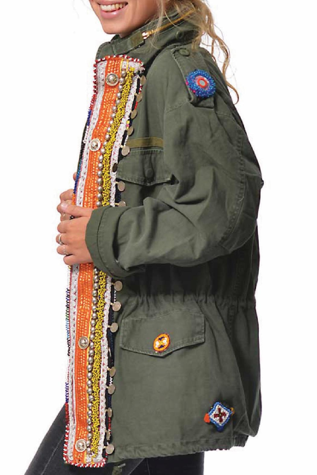 Gypsetters Tribal Embellished Parka - Front Full Image