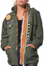 Gypsetters Tribal Embellished Parka - Front cropped