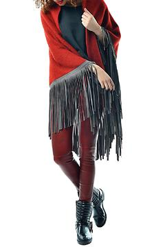 Shoptiques Product: Leather Fringe Poncho
