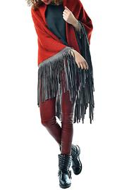 Gypsetters Leather Fringe Poncho - Product Mini Image