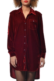Gypsetters Shirt Dress Velvet - Front cropped