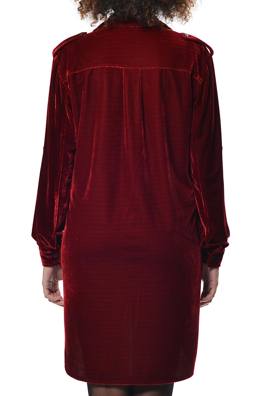 Gypsetters Shirt Dress Velvet - Front Full Image