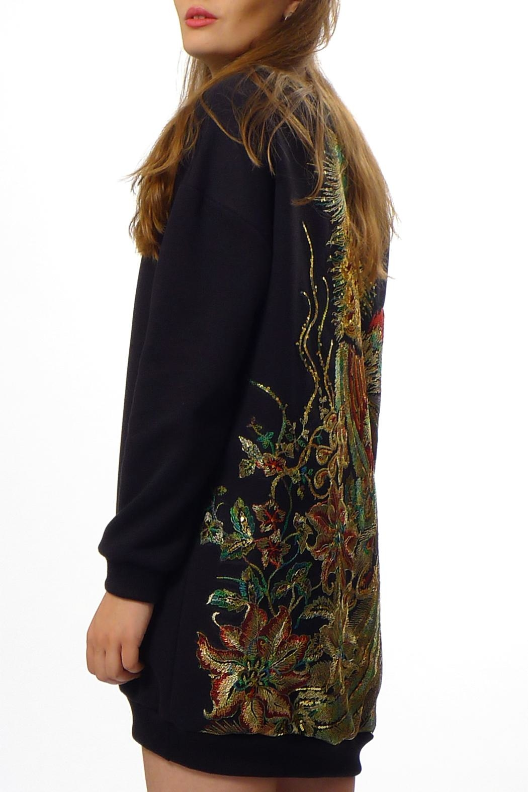 Gypsetters Sweat Dress Peacock - Front Full Image