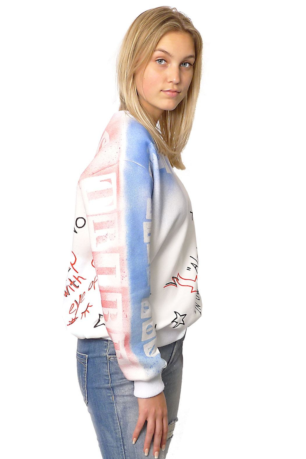 Gypsetters Sweater Graffiti - Front Cropped Image